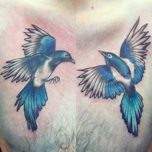 Guy With Magpie Tattoo