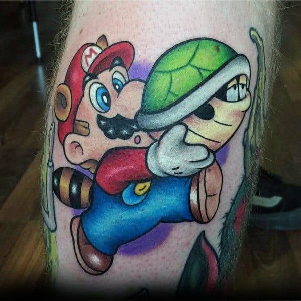 Guy With Mario Tattoo