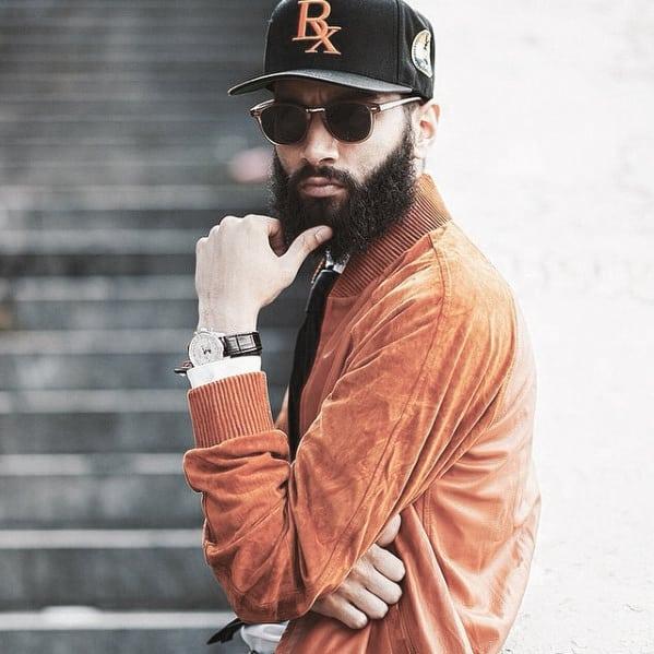Guy With Medium Dapper Beard Design
