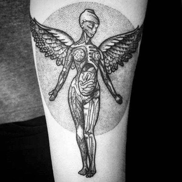 Guy With Nirvana Tattoo Design