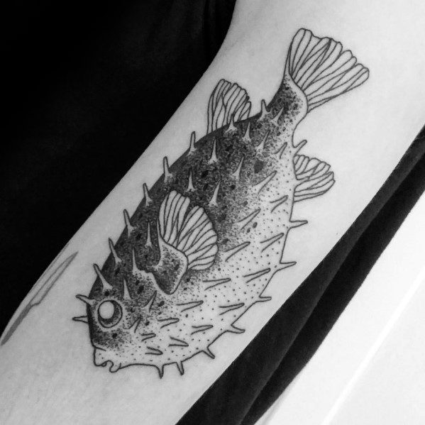 Guy With Puffer Fish Tattoo