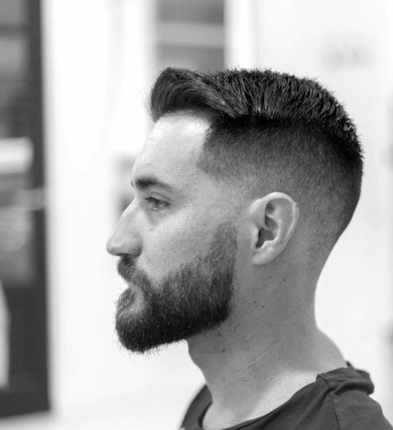 Guy With Short Hair Beard Style