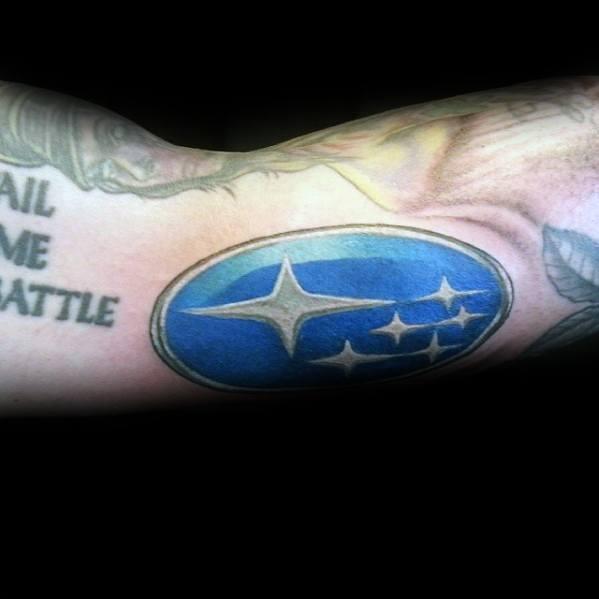 Guy With Subaru Tattoo