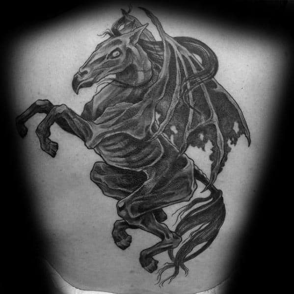 Guy With Thestral Tattoo Design