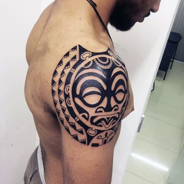 Guy With Tribal Tattoo Shoulder