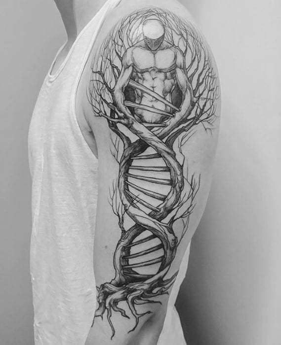 Dna Tattoos Designs Ideas And Meaning: 60 Trippy Tattoos For Men