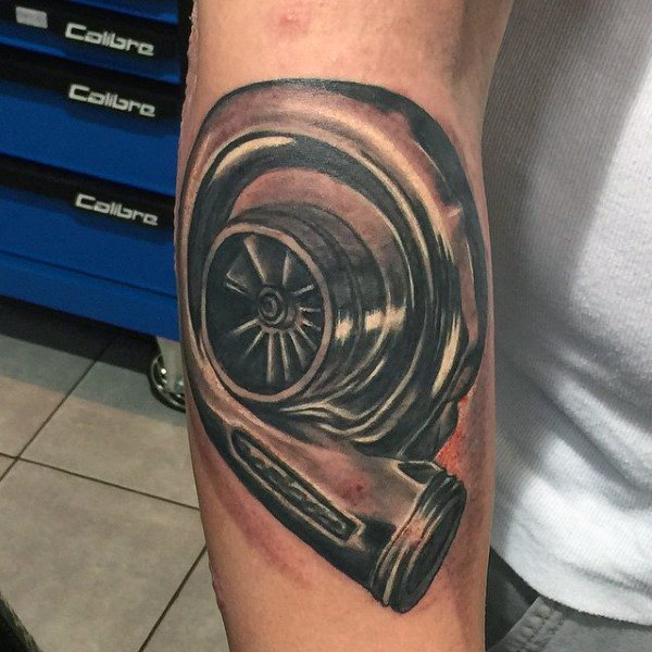 Guy With Turbo Tattoo
