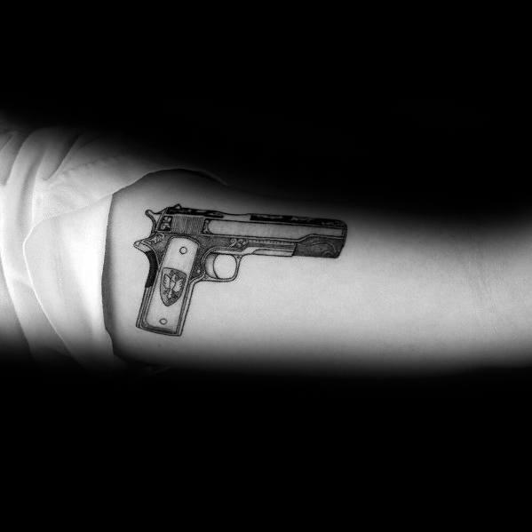 Guys 1911 Tattoos Inner Arm
