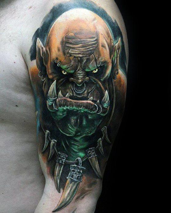 Guys 3d Half Sleeve Tattoo Ideas Gamer Designs