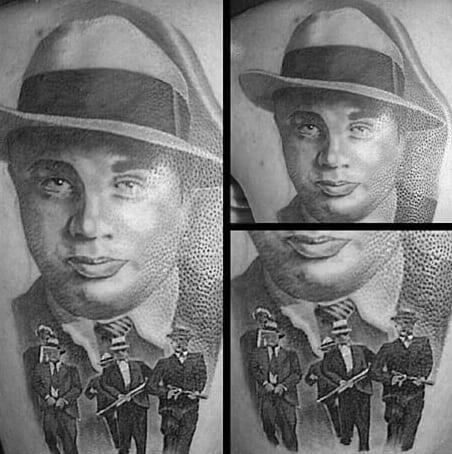 Guys Al Capone 3d Arm Tattoo Designs