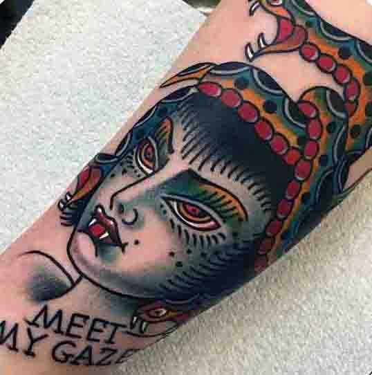 Guys Ancient Greek Medusa Tattoo Ideas