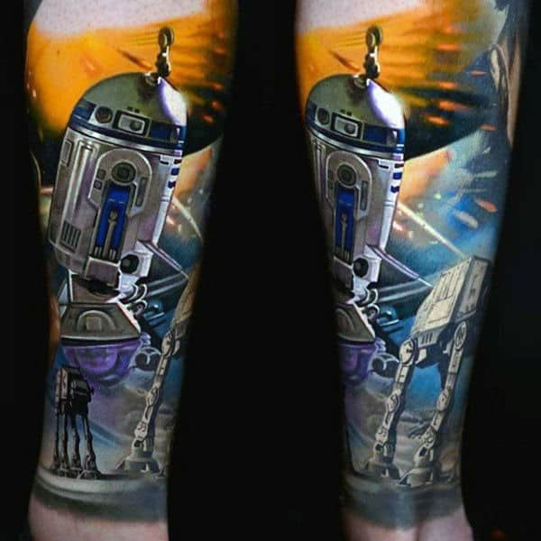 Guys Ankles Star Wars Tattoo