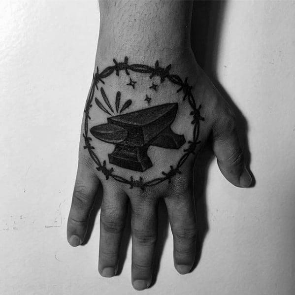 Guys Anvil Tattoo Design Ideas