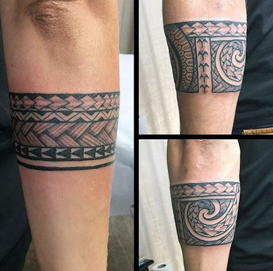 50 Tribal Armband Tattoo Designs For Men , Masculine Ink Ideas