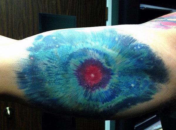 Guys Arms Bluish Universal Eye Tattoo