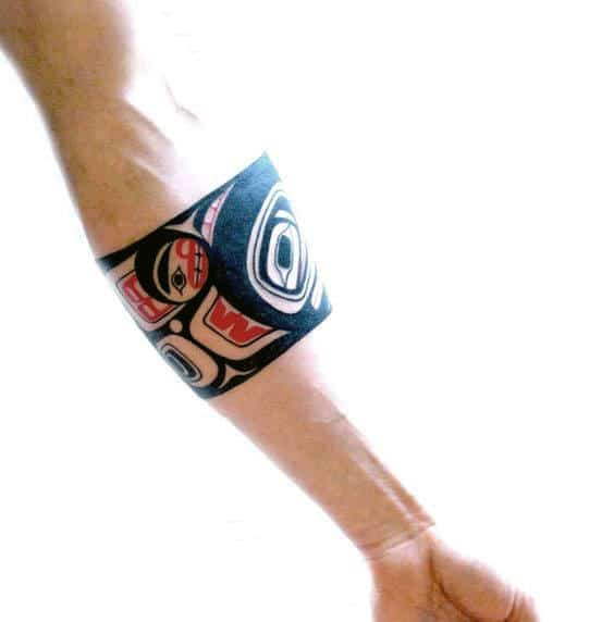 Guys Arms Haida Band Tattoo