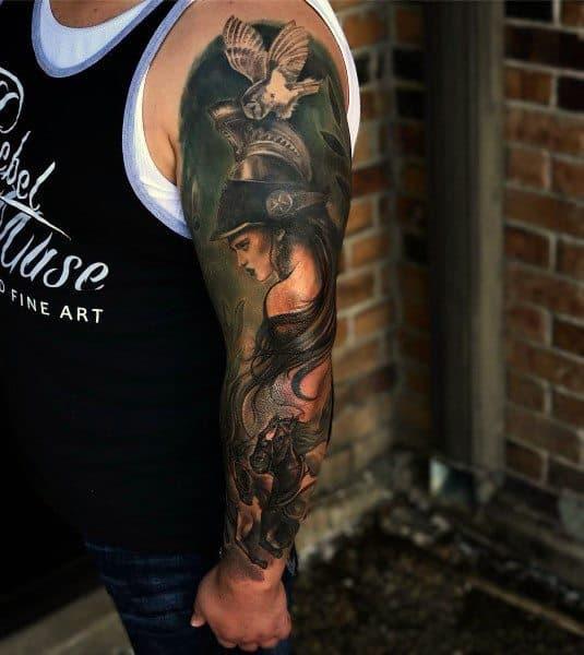 Guys Athena Tattoo Design Ideas