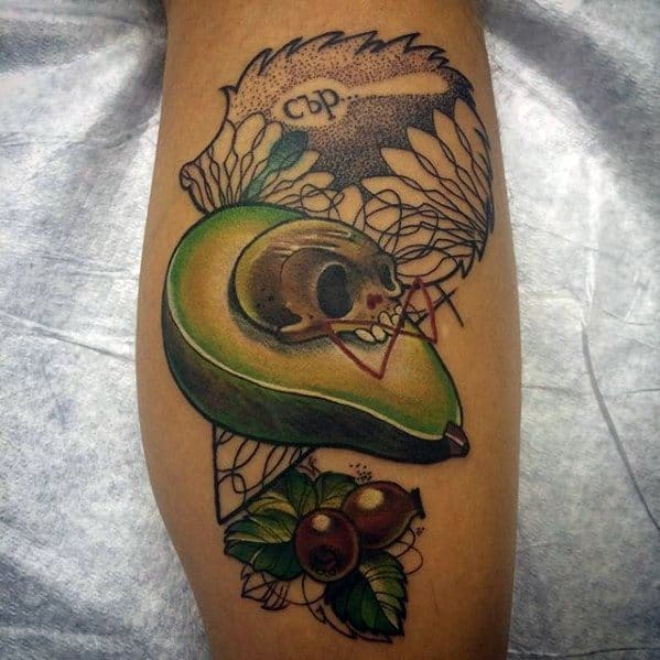 Guys Avocado Tattoo Design Ideas