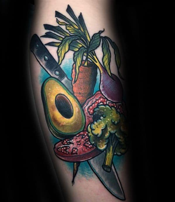 Guys Avocado Tattoos