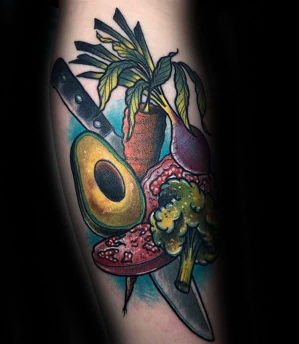 Guys Avocado Tattoos
