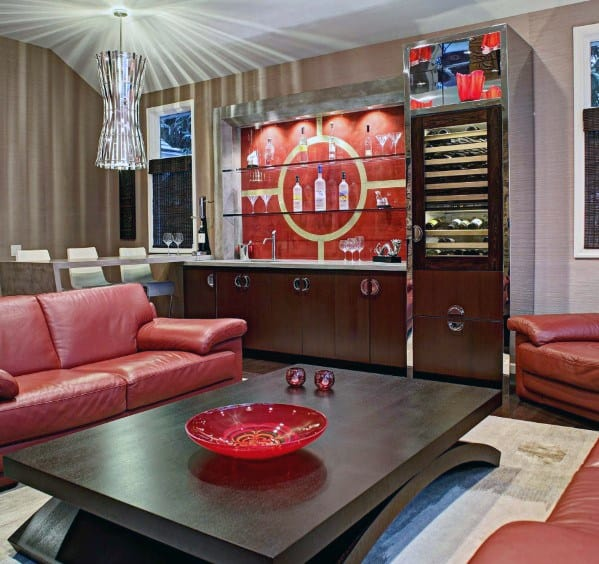 Guys Awesome Man Caves With Bar Area Design