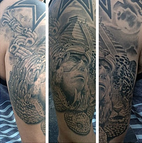 80 aztec tattoos for men ancient tribal and warrior designs for Tribal warrior tattoos