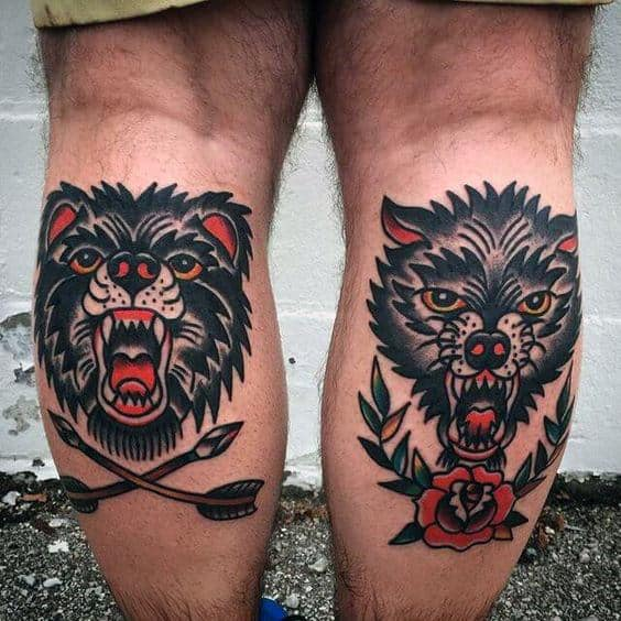 50 Traditional Bear Tattoo Designs For Men - Old School Ideas - photo#28