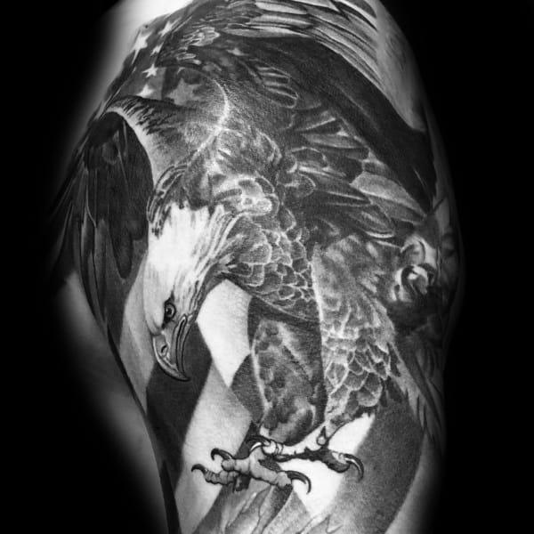 Guys Badass Eagle Tattoo Design Ideas