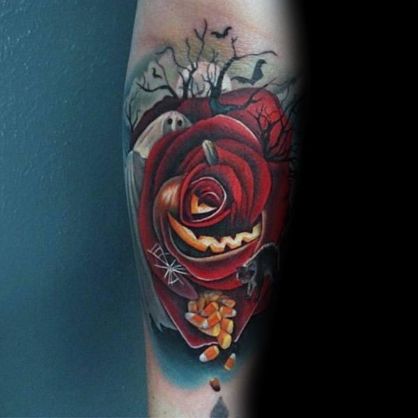 Guys Badass Rose Tattoos