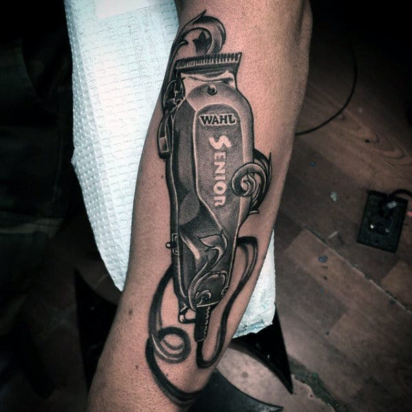 Guys Barber Clipper Tattoos