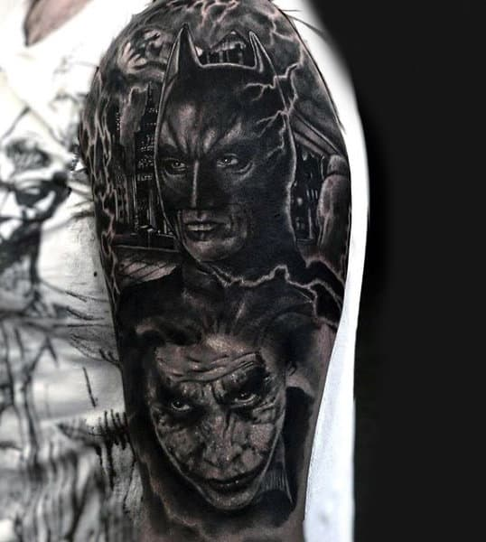 Guys Batman Dark Knight Tattoos