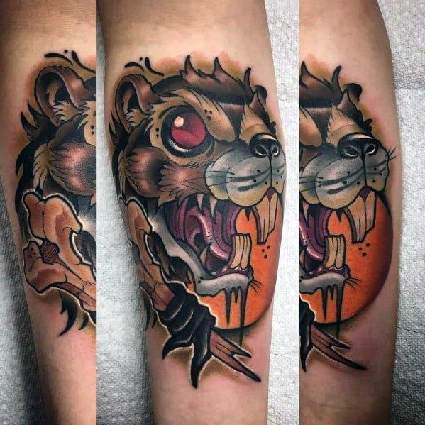 Guys Beaver Tattoos
