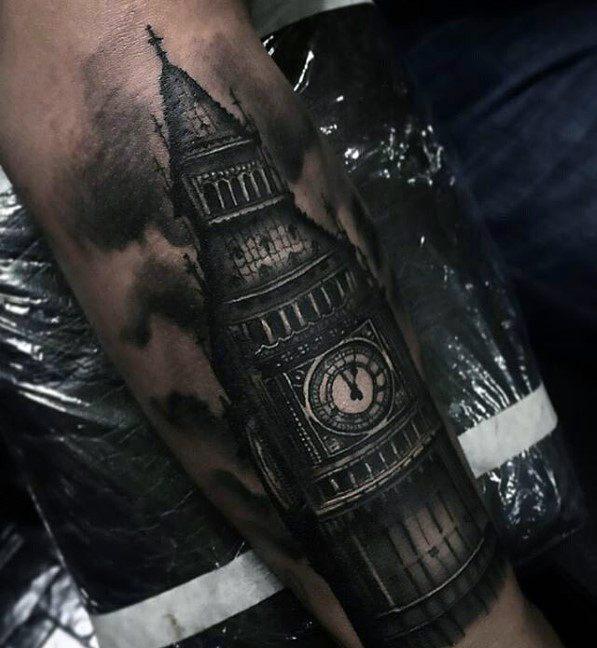 Guys Big Ben Tattoo Design Ideas