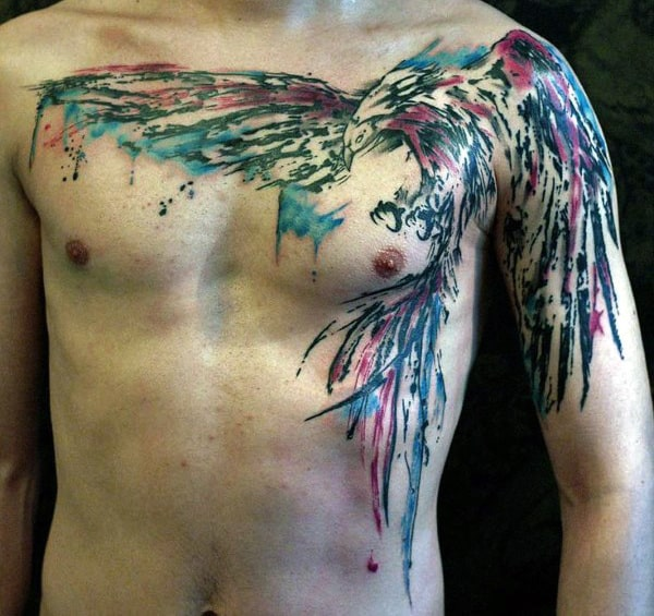 Guy's Bird Tattoos With Color