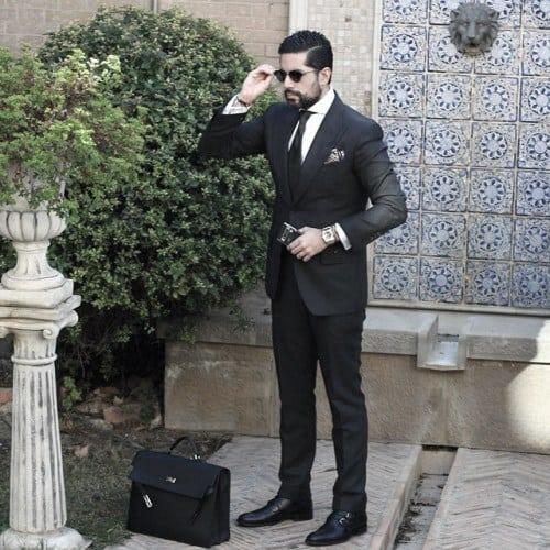 Guys Black Suit Fashion Ideas