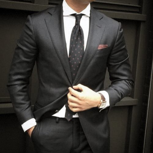 Guys Black Suit Style Designs