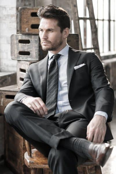 Guys Black Suit Style Fashion Inspiration