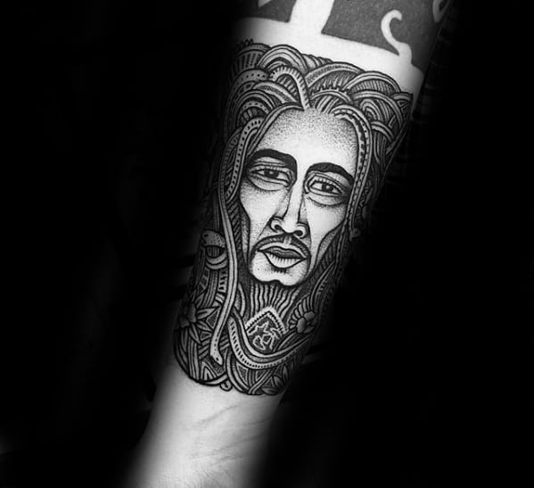 Guys Bob Marley Tattoos