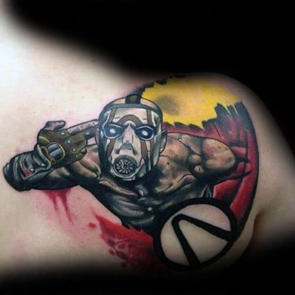 Guys Borderlands Tattoo Design Ideas