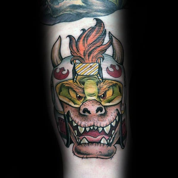 Guys Bowser Tattoos On Arm