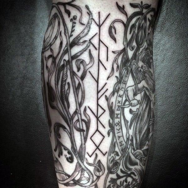 100 Norse Tattoos For Men - Medieval Norwegian Designs | 600 x 600 jpeg 109kB