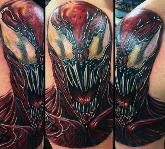 Guys Carnage Tattoo Design Ideas On Upper Arm