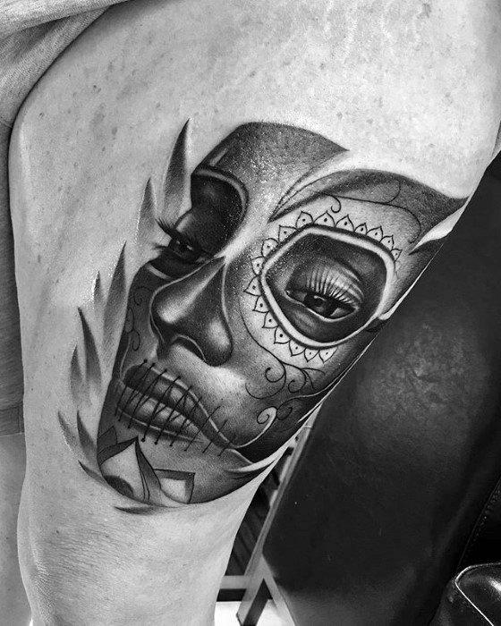 Guys Catrina Tattoo Designs