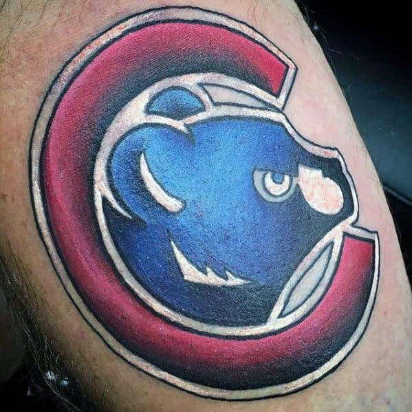 Guys Chicago Cubs Tattoo Design Idea Inspiration On Arm