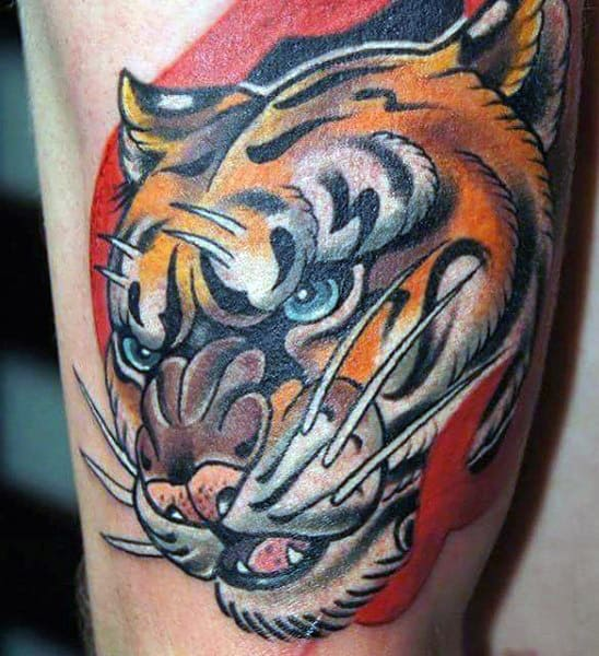 Guy's Chinese Tiger Tattoos