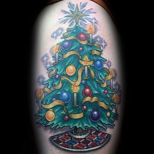 Christmas Tree Tattoo Small.Tattoo Christmas Tree Ornaments Thecannonball Org