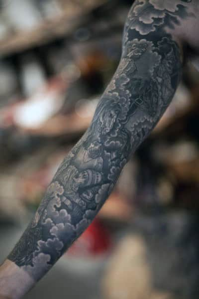 Guys Cloud Sleeve Tattoos