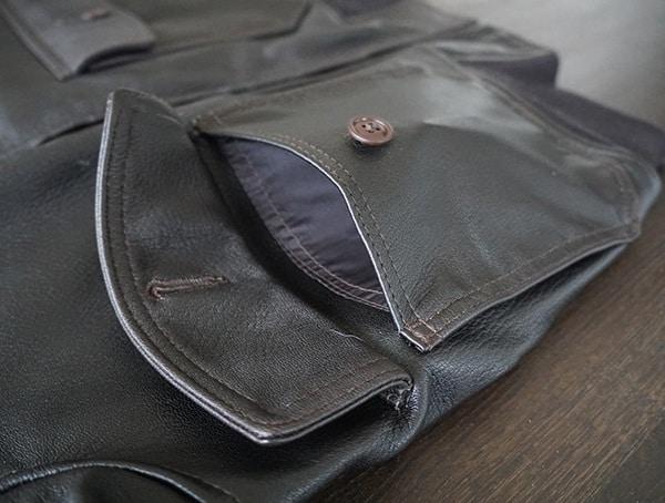 Guys Cockpit Usa G 1 Flight Jacket Leather Jacket Front Pocket