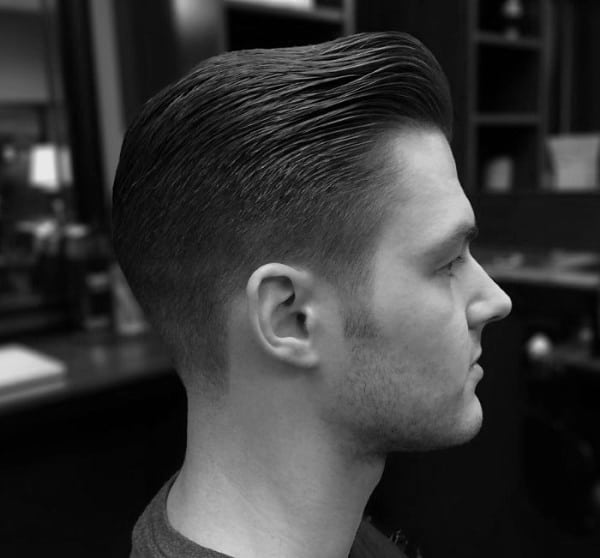 Guys Comb Over Fade Haircut