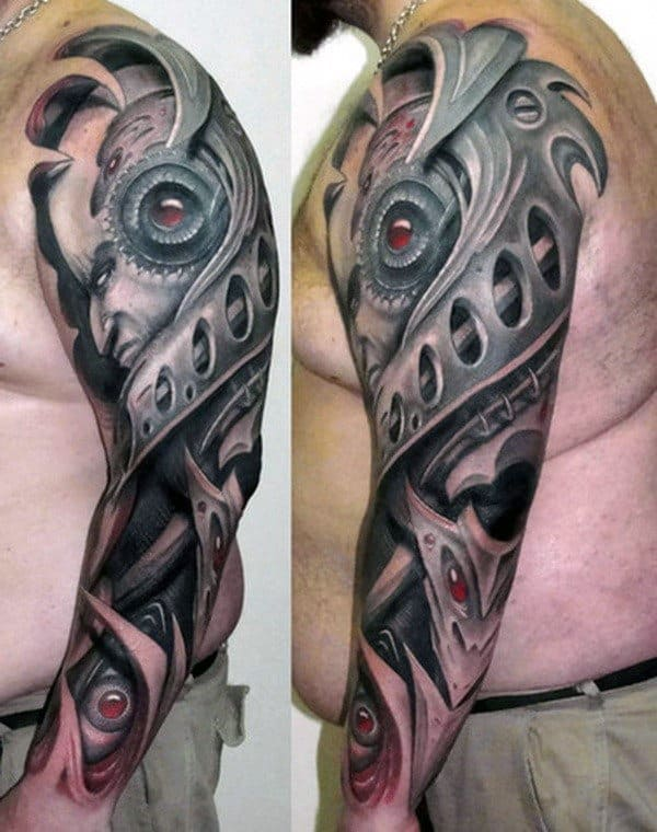 Guys Cool 3d Arm Tattoo